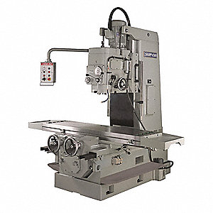"Mill/Drill Machine, 15 Motor HP, 10"" Swing, 45 to 1500 RPM"