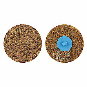 "3"" Non-Woven Quick Change Disc, TR Roll-On/Off Type 3, 36, Extra Coarse, Aluminum Oxide, 1 EA"