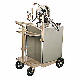 Oil Transfer Cart, Mobile, 75 gal., Pump Ratio 3:1