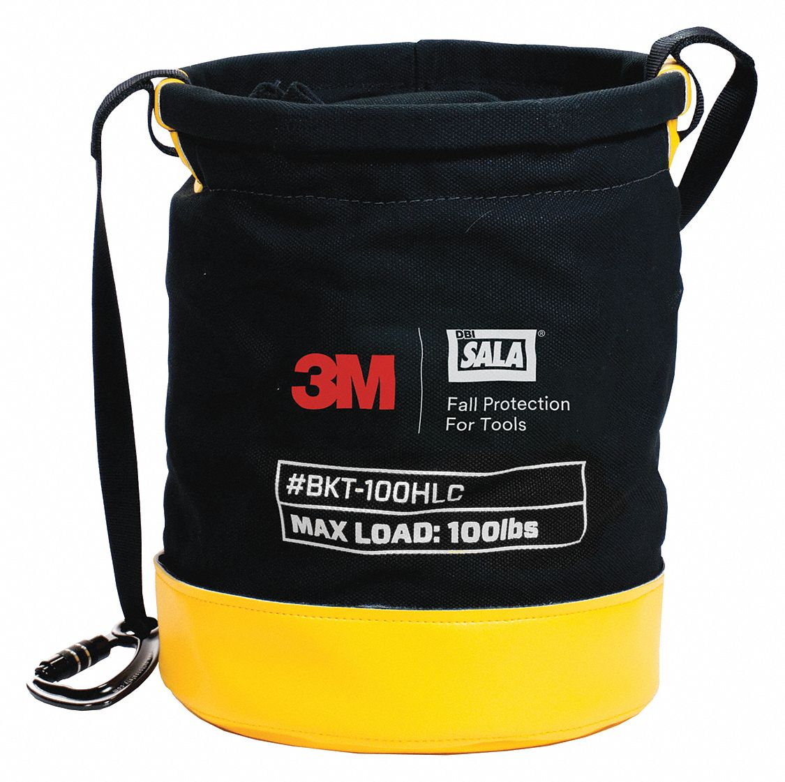 Safe Bucket Rated Hook and Loop Canvas,  Container,  100 lb Weight Capacity