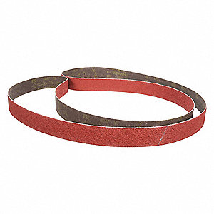 "Sanding Belt, 132"" Length, 3"" Width, Aluminum Oxide, 60 Grit, Medium, Coated, 384F, EA1"