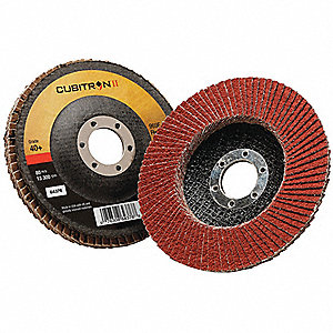 "Flap Disc, 7/8"" Mounting Hole, Coarse, 40 Grit Ceramic Grain, 1 EA"