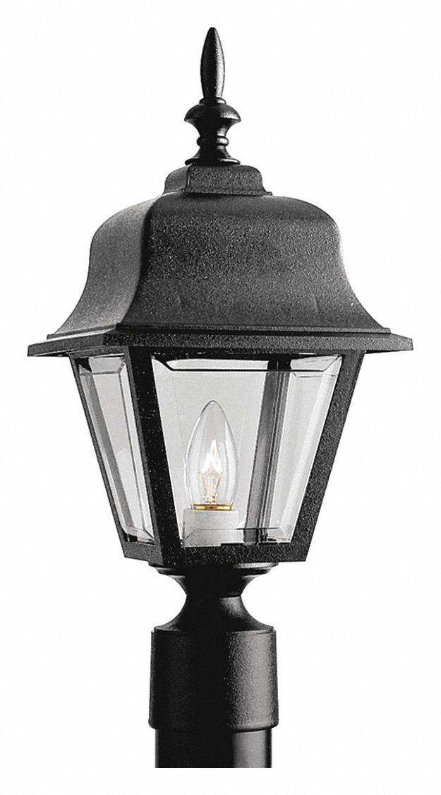 Path Light,  Plastic,  Black,  Post,  100 W