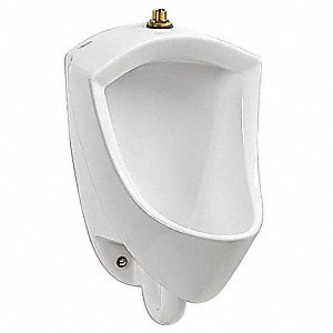 "Washdown Wall Urinal, 0.125 to 0.5 Gallons per Flush, 22-5/8""H x 14-5/16""W, White"