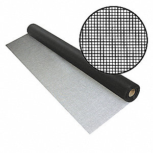 "50 ft. x 60"" Fiberglass Door and Window Screen, Black"