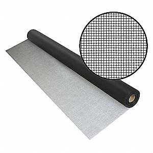 "100 ft. x 30"" Fiberglass Door and Window Screen, Black"