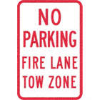 No Parking Fire Lane Tow Zone Signs