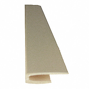 "Eggshell Top Cap, Adhesive, Molded Plastic, Width 1/2"", Height 96"""