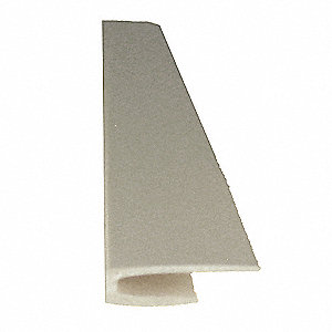 "Silver-Gray Top Cap, Adhesive, Molded Plastic, Width 1/2"", Height 96"""