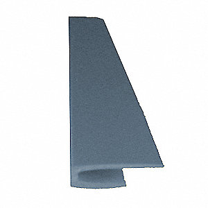 "Windsor Blue Top Cap, Adhesive, Molded Plastic, Width 1/2"", Height 96"""