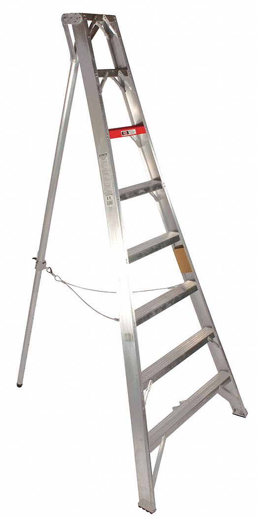STOKES 16 ft Not Rated Load Capacity Aluminum Tripod Stepladder