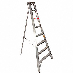 13 ft. Not Rated Load Capacity Aluminum Tripod Stepladder