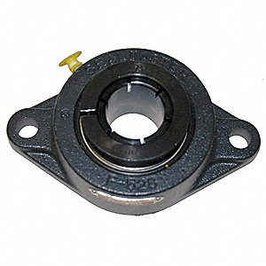 "Flange Bearing,2-Bolt,Ball,1-7/16"" Bore"