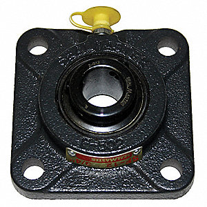 "4-Bolt Flange Bearing with Ball Bearing Insert and 1-7/8"" Bore Dia."