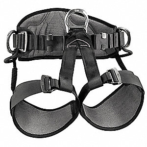 Sit Harness with 310 lb. Weight Capacity, Black/Yellow, M/L