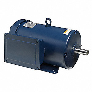 5 HP General Purpose Motor,Capacitor-Start/Run,1750 Nameplate RPM,Voltage 208-230,Frame 213T