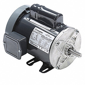 1 HP General Purpose Motor,Capacitor-Start,1725 Nameplate RPM,Voltage 115/230,Frame 56
