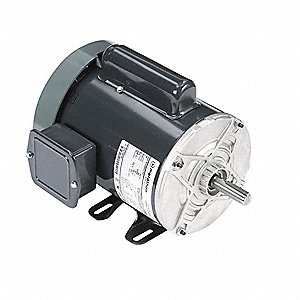 1 HP General Purpose Motor,Capacitor-Start,3450 Nameplate RPM,Voltage 115/230,Frame 56