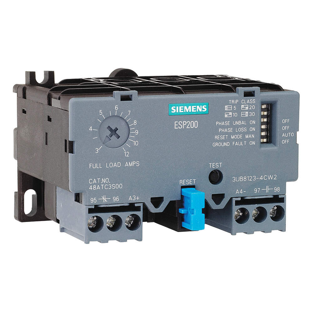 IEC Style Overload Relay, 10 0 to 40 0A, 3 Poles, Auto, Manual Reset, Trip  Class: 5, 10, 20, 30