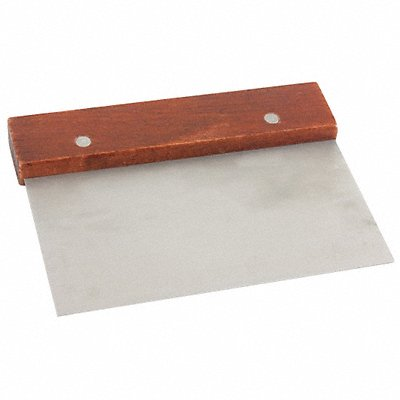 44F726 - Dough Scraper Steel/Wood 6-1/2 In