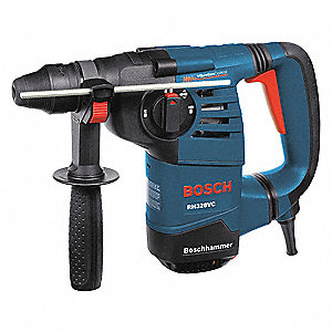 SDS Plus Rotary Hammer Kit, 8.0 Amps, 0 to 4000 Blows per Minute, 120 Voltage