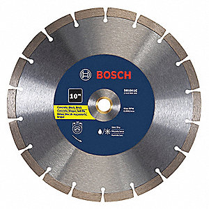 "10"" Wet/Dry Diamond Saw Blade, Segmented Rim Type, Application: Masonry"
