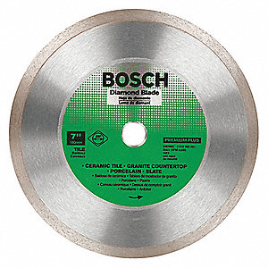 "7"" Wet/Dry Diamond Saw Blade, Continuous Rim Type, Application: Specialty"