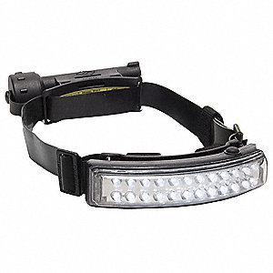 LED Tactical Headlamp, Nylon, 50,000 hr. Lamp Life, Maximum Lumens Output: 54, Black
