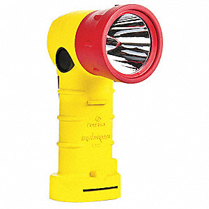 LED Hands Free Light, Nylon, Maximum Lumens Output: 200, Yellow, 7.00""