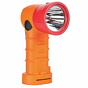 LED Hands Free Light, Nylon, Maximum Lumens Output: 600, Orange, 7.00""