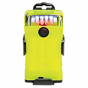 LED Hands Free Light, Nylon, Maximum Lumens Output: 16, Yellow, 3.70""