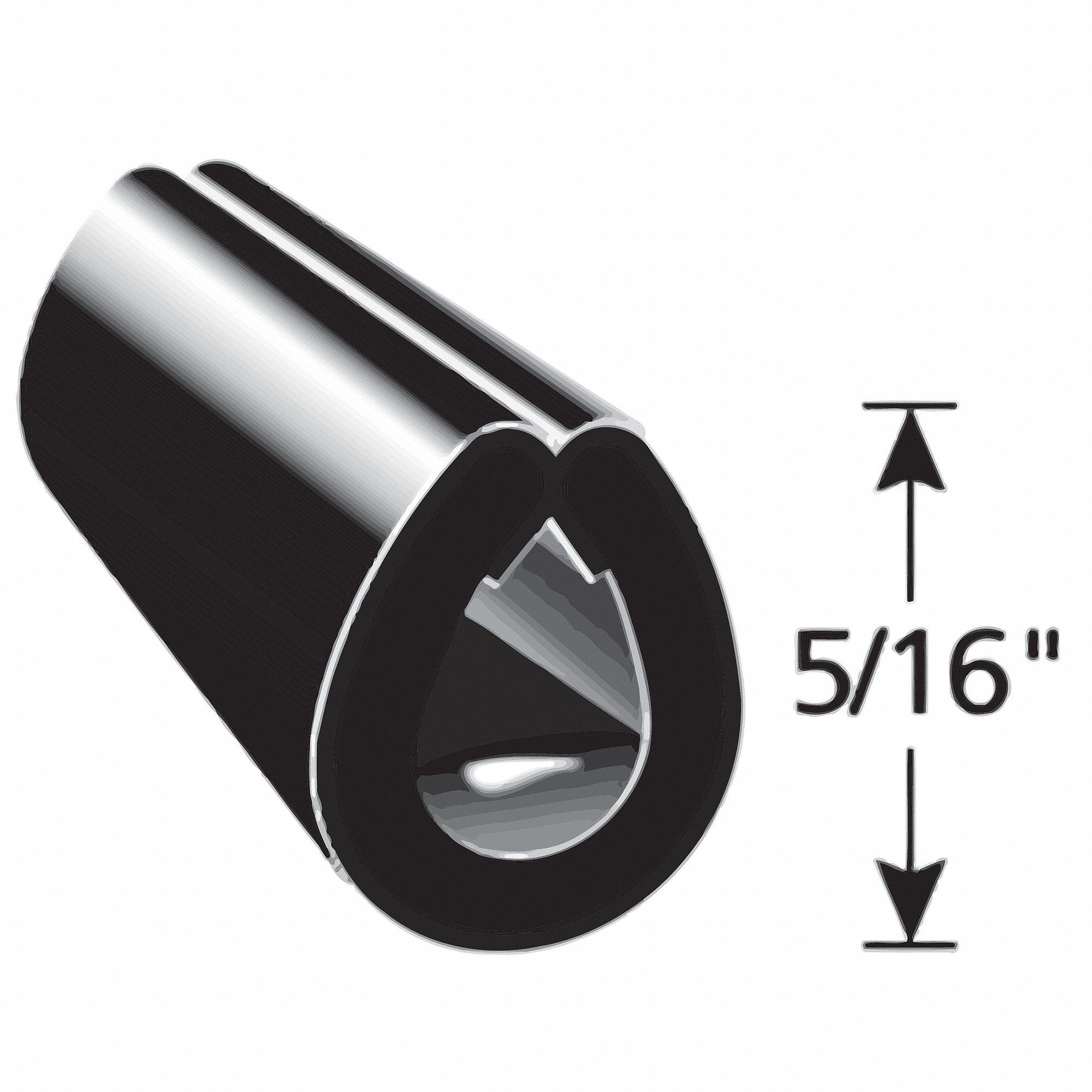 Black Edge TRIM LOK I PVC L,0.375 in 1375B3X3//8-25 Aluminum Edge Trim,25 ft
