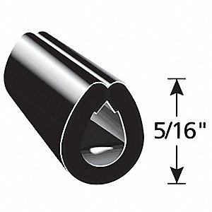 Edge Guard Black, 5/16 In. L, 250 Ft.