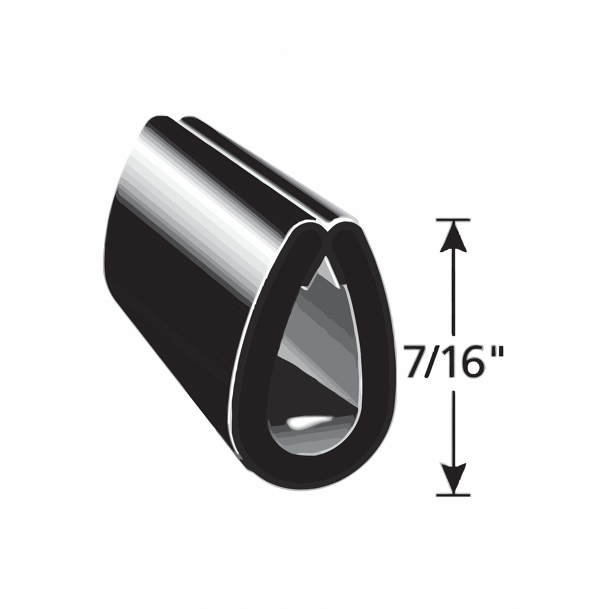 Edge Guard Black, 7/16 In. L, 25 Ft.