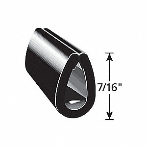 Edge Guard Black,7/16 In. L,100 Ft.