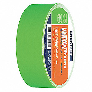 Industrial Duct Tape, 48mm X 55m, 9.00 mil Thick, Green Plastic, 1 EA