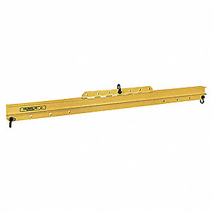 "Adjustable Lifting/Spreader Beam, 8000 lb., Max. Spread 144"", Min. Spread 72"", Headroom 18-3/4"""