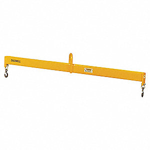 "Fixed Spread Lifting Beam, 1000 lb., Max. Spread 120"", Min. Spread 120"", Headroom 14-5/16"""