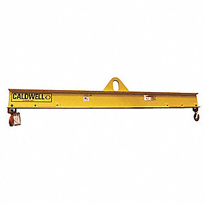 "Adjustable Lifting Beam, 6,000 lb., Max. Spread 36"", Min. Spread 24"", Headroom 15-1/4"""