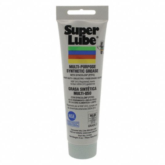 White,  PTFE,  Multipurpose Grease,  3 oz,  2 NLGI Grade