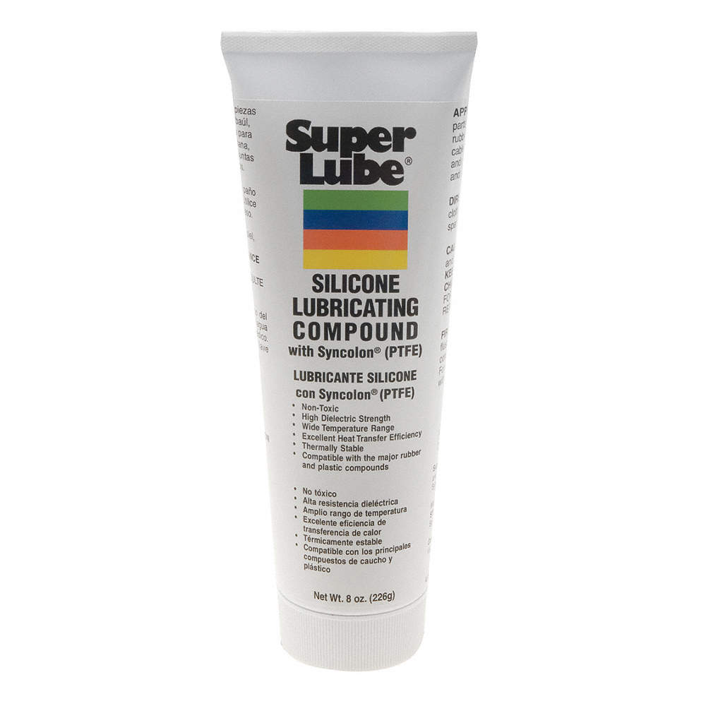 White PTFE Multipurpose Grease, 8 oz , NLGI Grade: 2