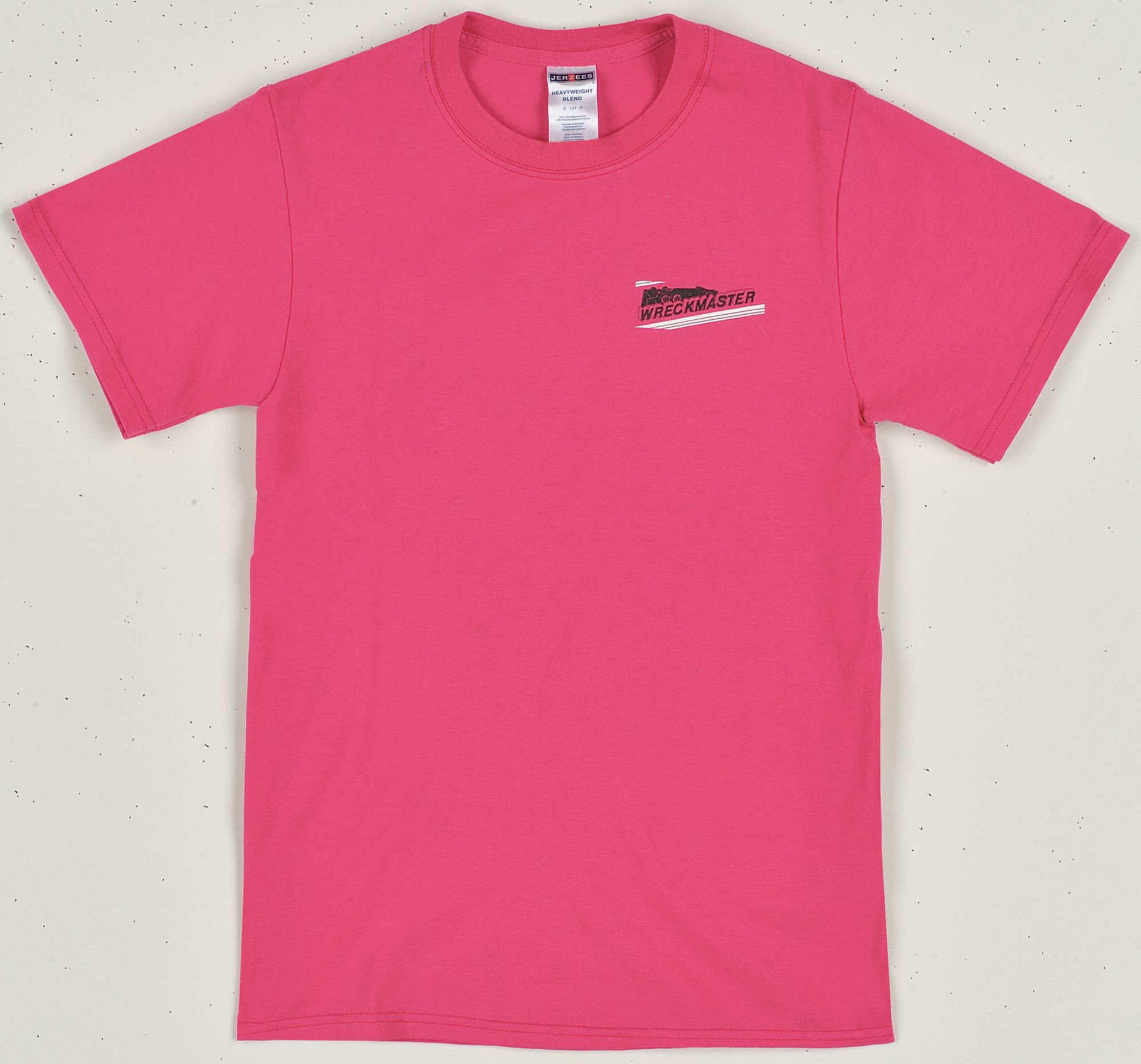 Short Sleeve T-Shirt,  Cotton/Polyester,  Pink,  Pull Over,  Fits Chest Size 32 in to 34 in