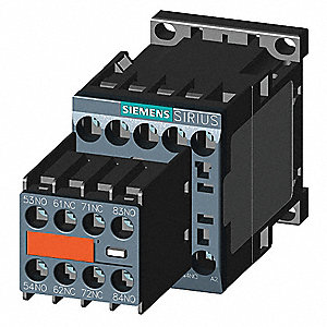 6NO/2NC IEC Control Relay, 10A and 6A, 24VDC, Din Rail Mounting