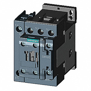 IEC Magnetic Contactor, 24VAC Coil Volts, 1NC/1NO Auxiliary Contact Form
