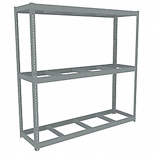 "Starter Boltless Shelving with None Decking, 3 Shelves, 84-5/8""W x 24-5/8""D x 84""H"