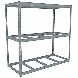 "Starter Boltless Shelving with None Decking, 3 Shelves, 84-5/8""W x 36-5/8""D x 84""H"