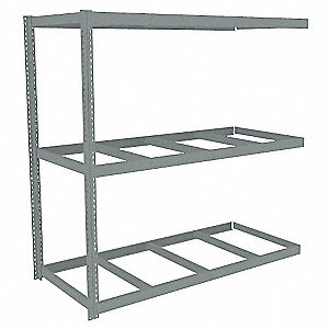 "Add-On Boltless Shelving with None Decking, 3 Shelves, 85""W x 36-5/8""D x 84""H"