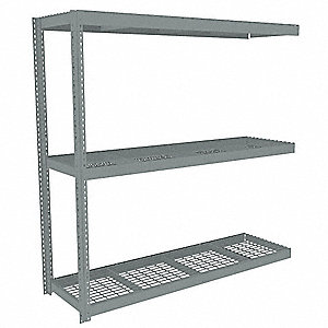"Add-On Boltless Shelving with Steel Wire Decking, 3 Shelves, 85""W x 24-5/8""D x 84""H"