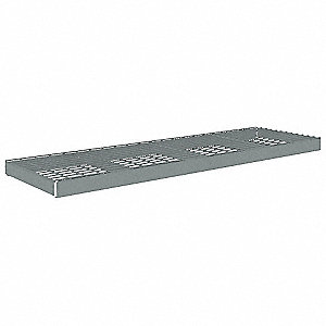 "Steel Shelf, Overall Width: 84"", Overall Depth: 18"", Overall Height: 4-13/22"", Gray"