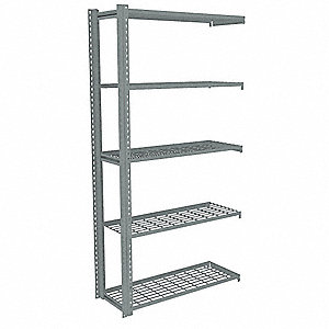 Boltless Shelving,Add-On,42x12,Wire